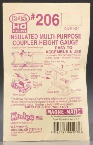 Kadee 206 HO Scale Insulated Multi-Purpose Coupler Height Gauge