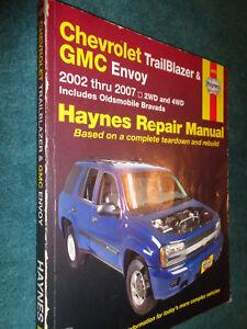 2002 2007 chevrolet trailblazer gmc envoy shop manual haynes rh ebay com 2002 gmc envoy repair manual 2002 GMC Envoy Interior