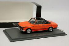 Neo 1/43 - BMW 2002 Cabriolet Baur Orange