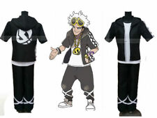 NEW Pokémon Sun//Moon Cosplay Costume Guzma Shirt Jacket and Pant Full Set GG.118