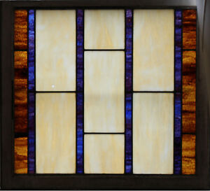 Large Antique Stained Gl Window 31