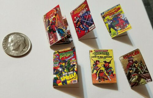 Miniature dollhouse book 1//12  Comic Book Tv show Action Figure Spawn super hero