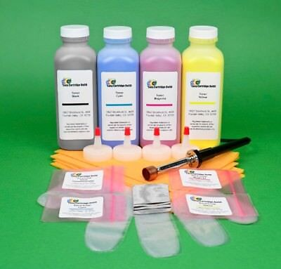 4-Color Toner Refill w//HM Tool /& Chips for Lexmark C520 C520n C522 C522n C522tn