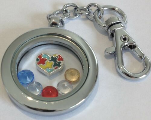 Floating Charm Awareness lockets Autism, CP, Epilepsy, Cancer + more