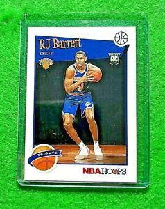 RJ BARRETT NBA HOOPS TRIBUTE ROOKIE NEW YORK KNICKS 2019-20 HOOPS BASKETBALL RC