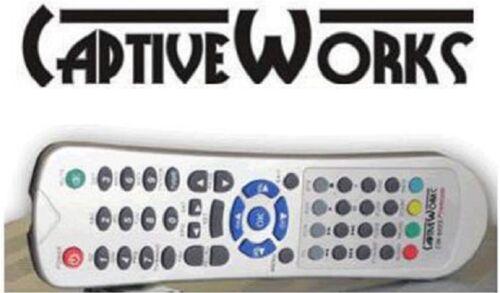 ORIGINAL CAPTIVEWORKS 600S REMOTE CONTROL CAPTIVE WORKS 600 PREMIUM FTA RECEIVER