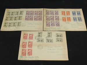 3-Scarce-Large-Oversized-Ethiopia-Covers-Registered-to-US-1935-49-Stamps
