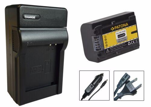 Patona-batería CARGADOR PARA SONY hdr-cx260ve//hdr-cx280e//hdr-cx305e np-fv50