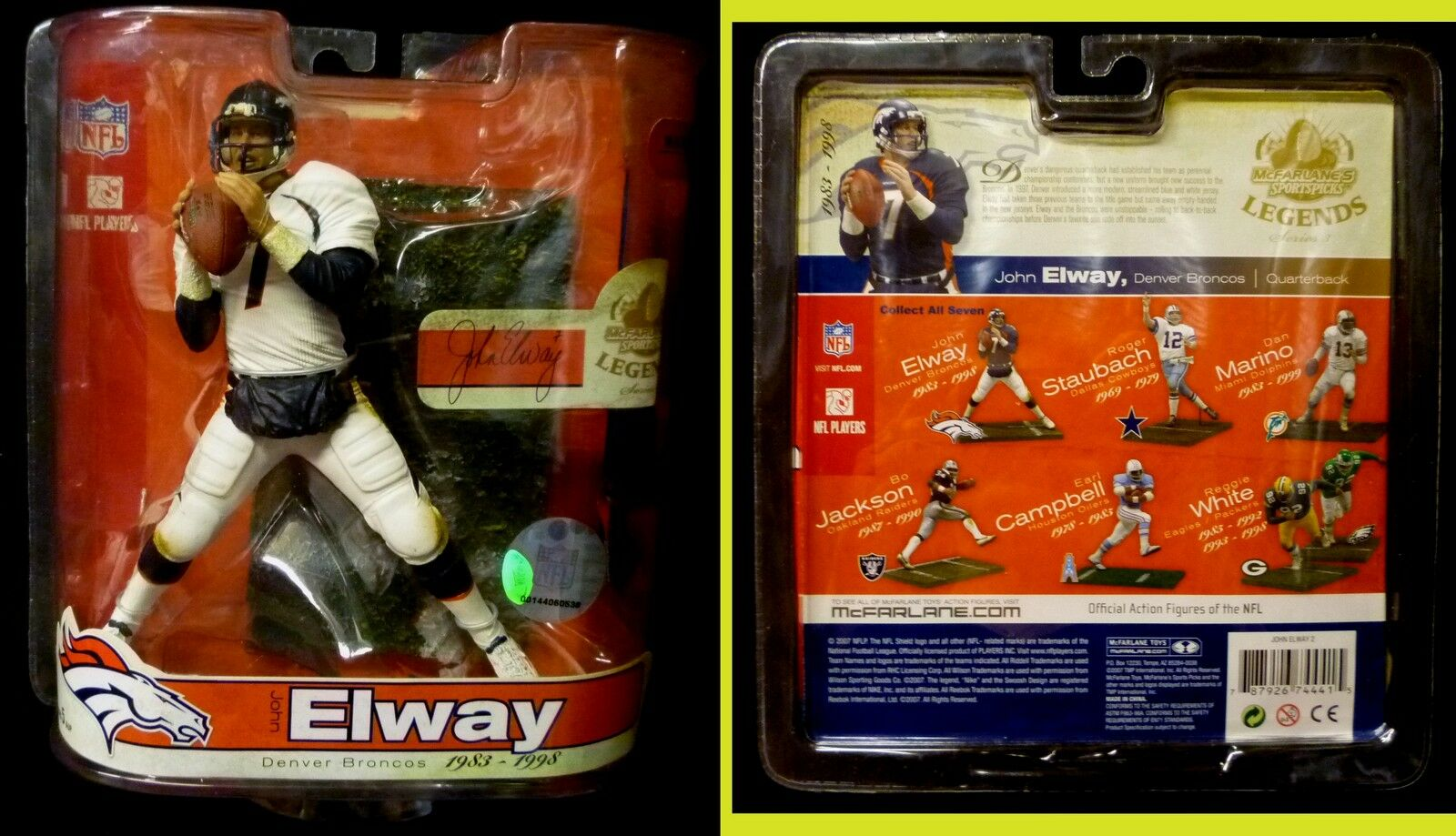McFarlane Toys Denver Broncos John Elway NFL Legends Series 3 Action Figure 2007