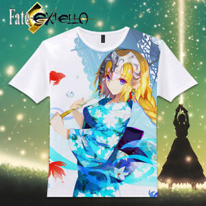 T-Shirt-Tops-Cool-Short-Sleeve-Casual-Anime-Fate-EXTELLA-Saber-Otaku-Unisex-101