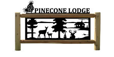 Personalized Cabin Amp Whitetail Deer Outdoor Sign