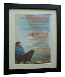 OASIS-Knebworth-Loch-Lomond-POSTER-AD-RARE-ORIGINAL-1996-FRAMED-FAST-GLOBAL-SHIP