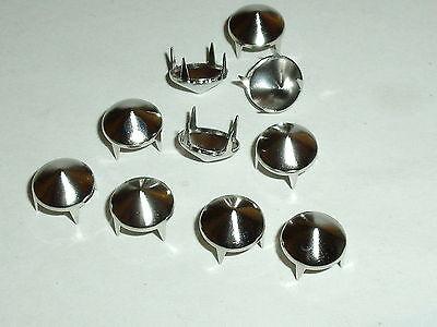100 Kegelnieten Nieten Ziernieten Krallennieten  9,5 mm gold  NEUWARE rostfrei