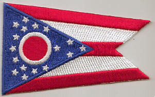 Ohio US State Flag Embroidered Patch T8