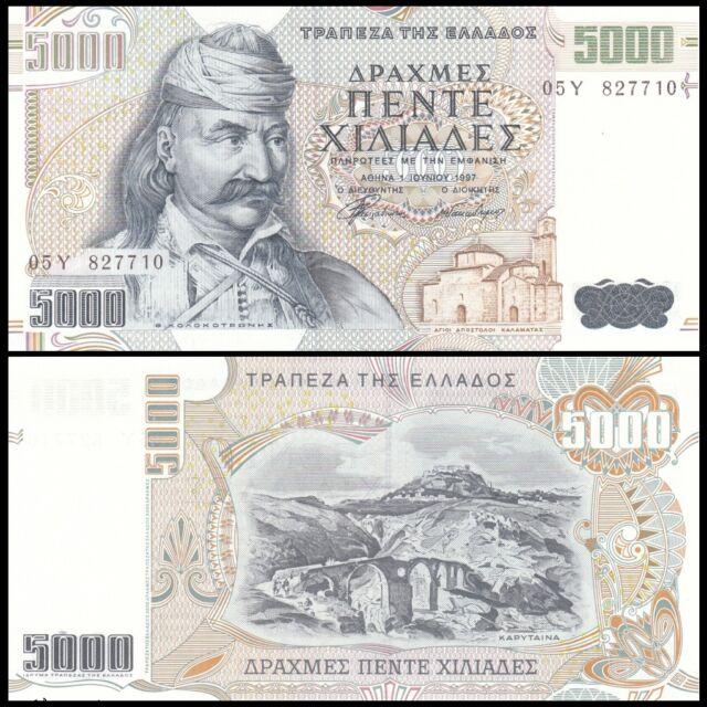 Greece 5000 Drachmai 1997 P205 UNC