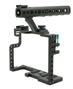 DSLR-Camera-Cage-With-Top-Handle-Grip-For-Panasonic-Lumix-GH5-Camera-Rig