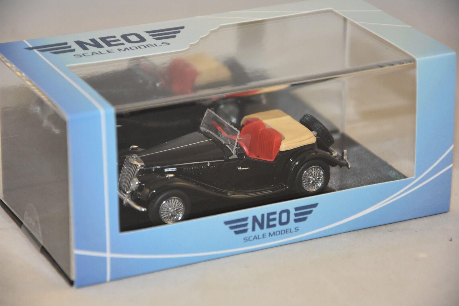 NEO 43926 - MG TF cabriolet Noir - 1955 1 43