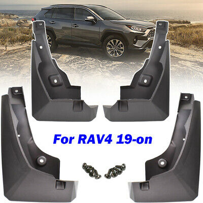 Set of Four Fender Mudguards Black YEE PIN Mud Flaps Splash Guards for RAV 4 XA50 2019 2020
