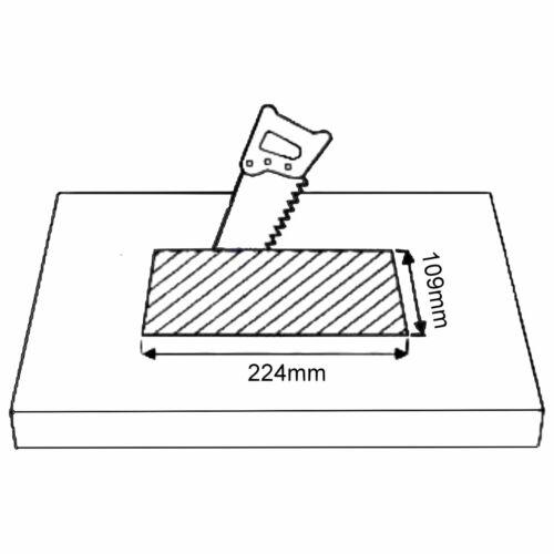 Versenkbare Aluminium Einbausteckdose 3fach weiß Kabel 3m Einbau Boden Steckdose