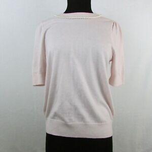 Kate-Spade-Pearl-Embellished-Sweatshirt-Light-Pink-Rosedew-198-Women-039-s-Large-Sw