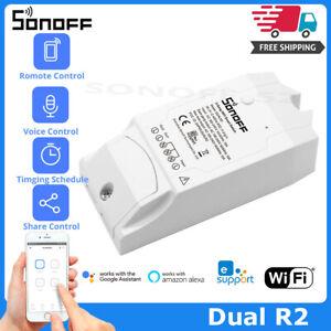 Sonoff-DUAL-2CH-DUAL-LUCI-Controllato-Remoto-Controllo-WIFI-SMART-INTERRUTTORE-WIRELESS