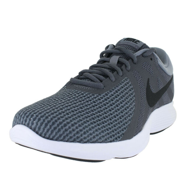 056bbd5f055e2 NIKE REVOLUTION 4 DARK GREY BLACK COOL GREY WHT 908988 010 MENS US SIZES