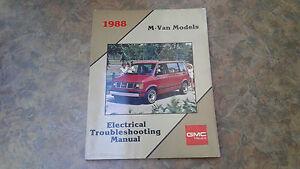 1988 GMC Safari Electrical Wiring Diagrams Service Manual ...