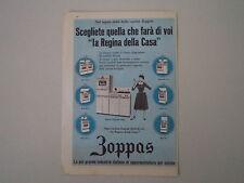 advertising Pubblicità 1959 CUCINA FORNO ZOPPAS