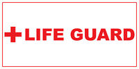Life Guard Red Car Door Magnets Magnetic Signs-qty 2