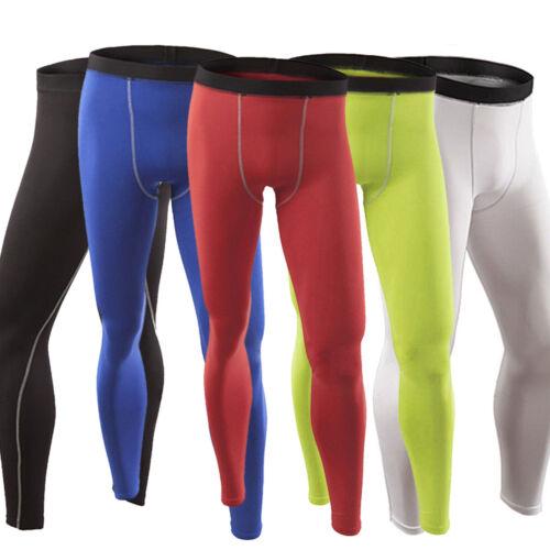 Men/'s Compression Tops Leggings Set Thermal Base Layer Jersey Pants Trousers UK