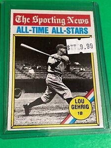 🔥 1976 Topps Baseball Card Set #341 🔥SPORTING NEWS ALL-STARS 🔥 LOU GEHRIG