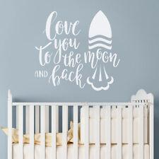MOON & TORNA AMORE Preventivo Adesivo PARETE ROCKET Baby Idea Vivaio Decalcomania Decor