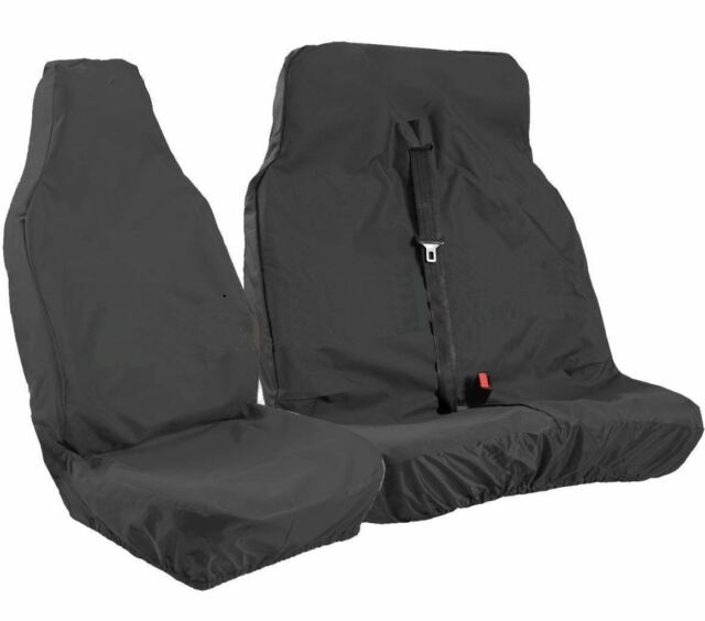 HEAVY DUTY RED TRIM VAN SEAT COVERS SINGLE DOUBLE RENAULT TRAFIC SPORT