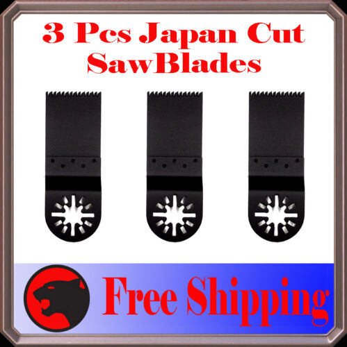 3 Japan Tooth Cut Oscillating Multi Tool Saw Blades For Multimaster Craftsman