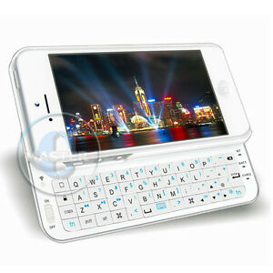 backlight bluetooth wireless qwerty slider keyboard case for iphone 5 5g white ebay. Black Bedroom Furniture Sets. Home Design Ideas