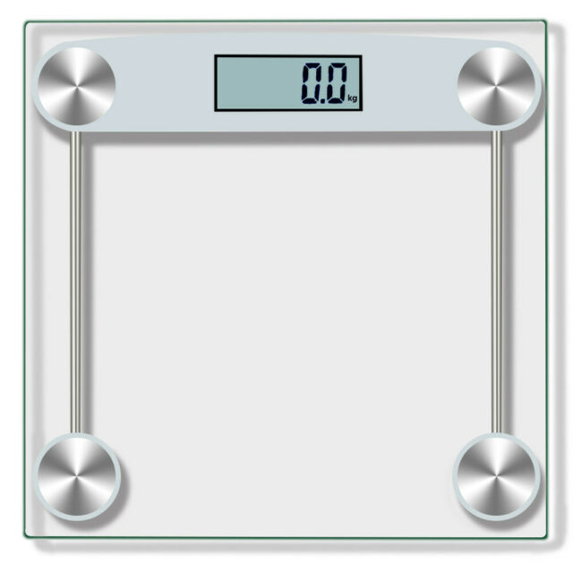 . U150KG 330Pound Home Digital Body Weight Bathroom Scale Tempered Glass  Weighing