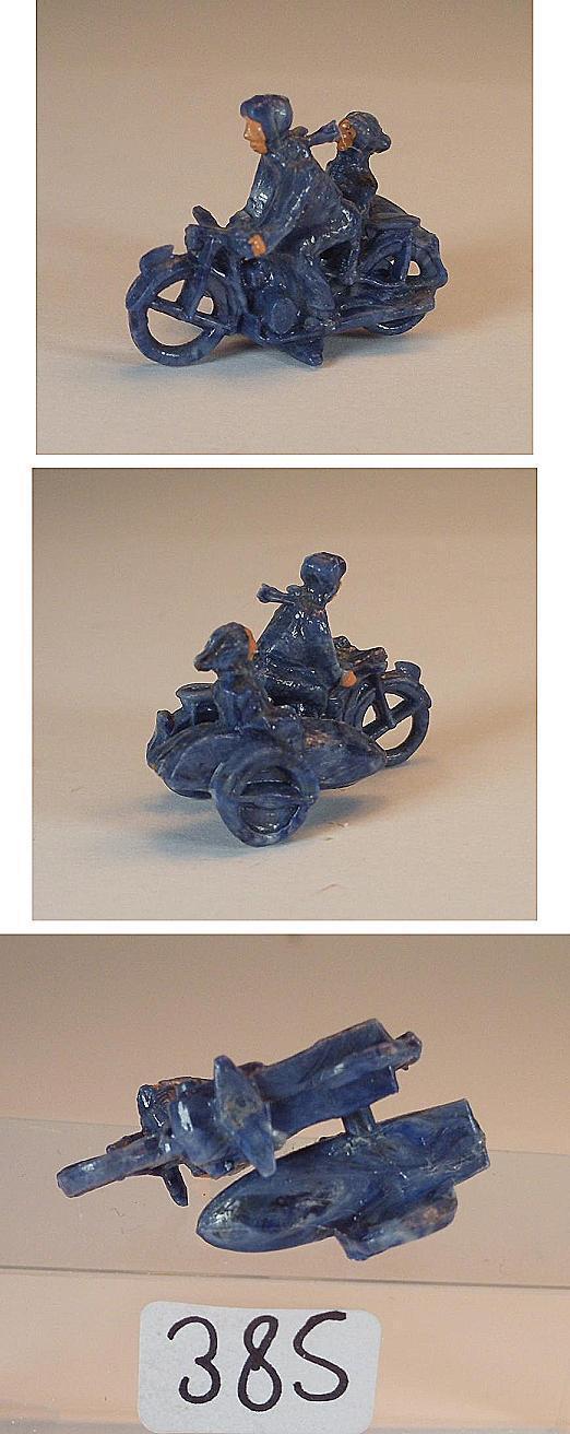Wiking 50er JH. motociclista con sidecar en hermoso metas-azul