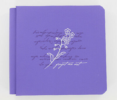 "NEW Creative Memories The Triumph Album 7x7 Purple /""Forget Me Not/"" w// 15 pages"