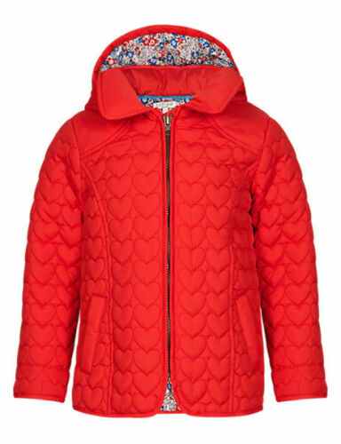 M/&S INDIGO COLLECTION Shower Resistant Heart Quilted Coat for Age 5-6 BNWT