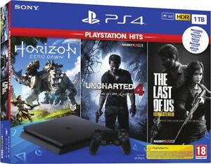 SONY-PLAYSTATION-4-PS4-1TB-F-CHASSIS-SLIM-HDR-Uncharted-Zero-Dawn-The-Last-Of-Us