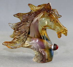 Chinese Peking Glass carved horse Snuff Bottles