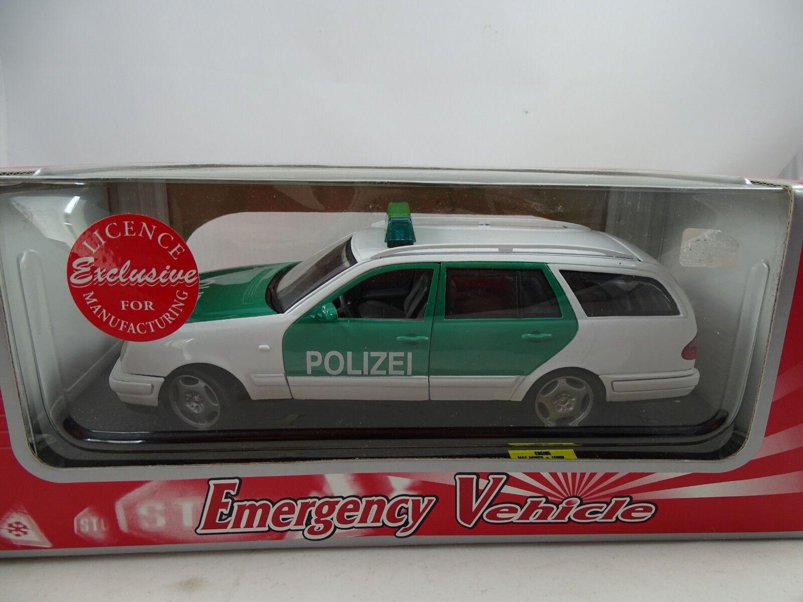 1 18 Anson Emergency Vehicle - Mercedes-Benz E-Class Polizei  - RARITÄT §