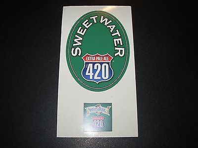 SWEETWATER BREWING COMPANY BLUE STICKER SET decal craft beer brewery