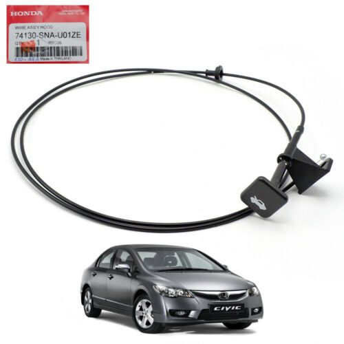 Genuine Wire Hood Bonnet Lock Release Cable For Honda Civic FB 2006-2011