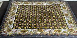 Vintage-PROVENCALE-Quilted-TABLECLOTH-Cover-Mat-VV180