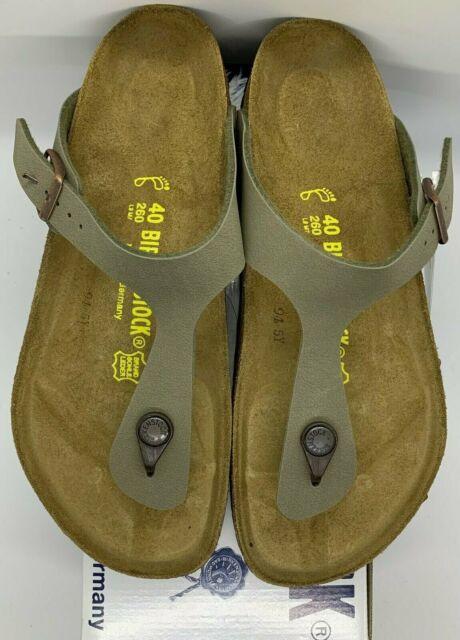 Birkenstock Gizeh 043391 Size 39 L8m6 R Stone Color Birko flor Thong Sandals
