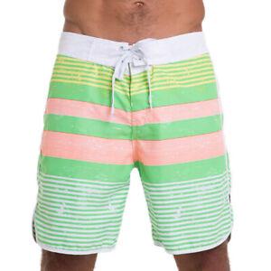 69Slam-Stripes-Pink-Axel-Boardshorts-Size-36-Beach-Surf-Swim-Short