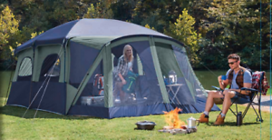NEW Ozark Trail 12-Person Cabin  Tent With Screen Porch Sleeping Family Camping  retail stores