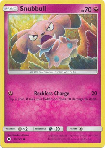 4x Pokemon Sun and Moon Snubbull 90//149 Common Card