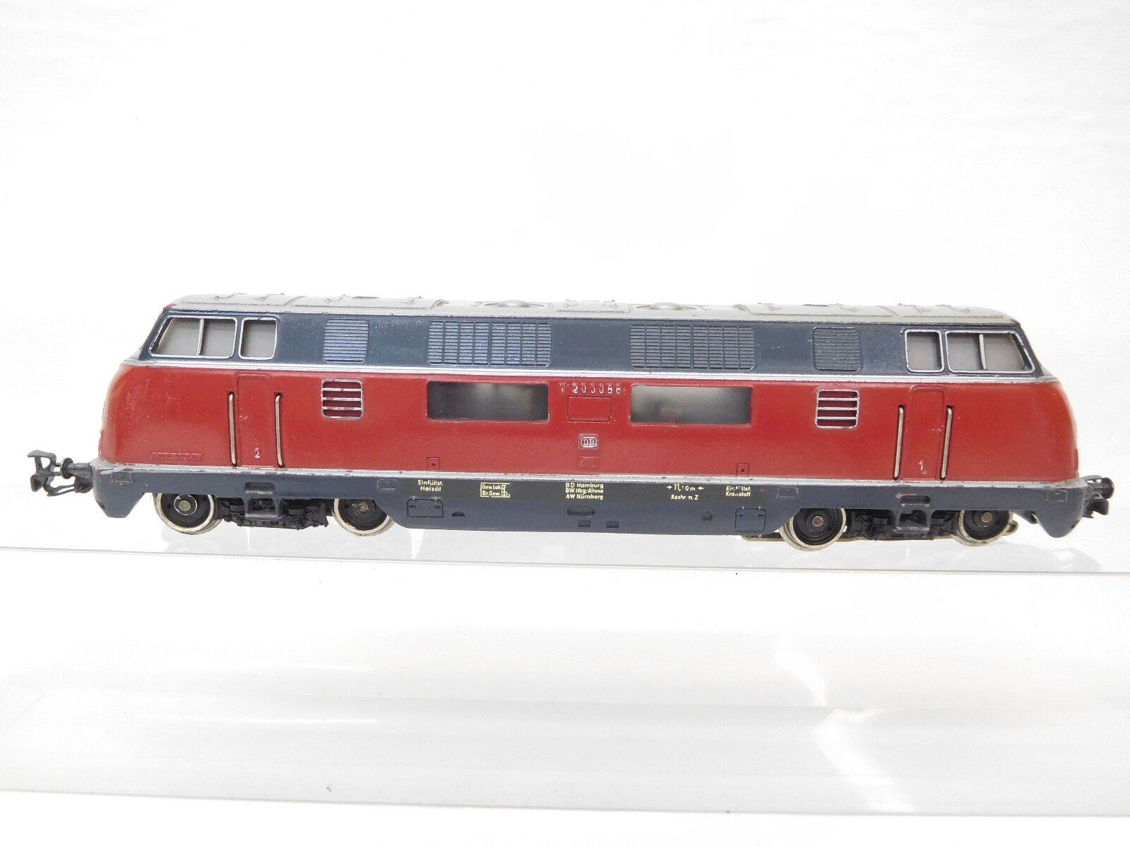 Eso-2014 Märklin H0 Diesellok DB V200 056 mit Gebrauchsspuren Farbschäden